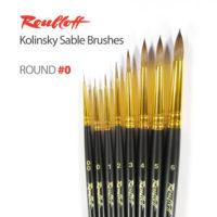 Roubloff-Brushes-Kolinsky-Sable-Round