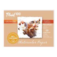 Fluid-100-Watercolor-Paper-821216-300LB-Cold-Press-12x16-Block-10-Sheets