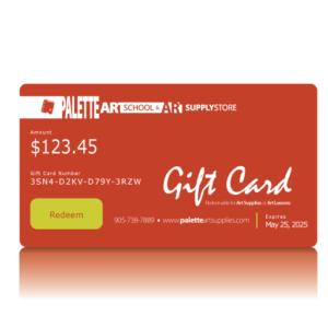 Palette Art School & Art Supplies Gift Card