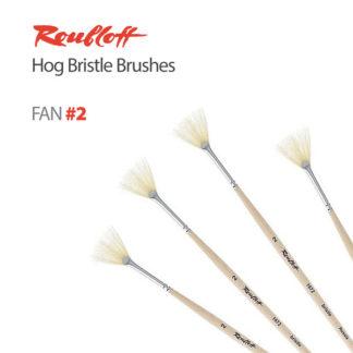 Roubloff Hog Bristle Fan Brushes