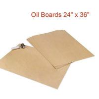 Stencil oil board