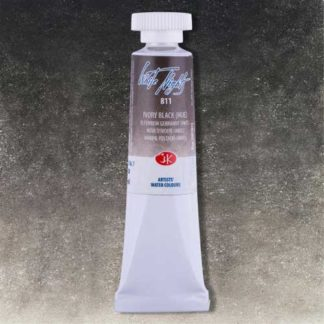 White Nights watercolor paint - Ivory Black