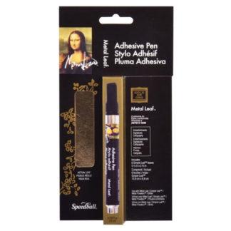 Mona Lisa Adhesive Pen 6 Gold Sheets