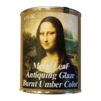 Mona Lisa Gold Leaf Waterbased Antiquing Glaze 32oz