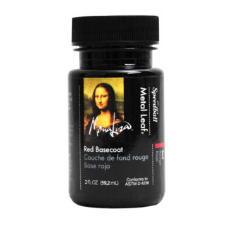 Mona Lisa Gold Leaf Waterbased Red Basecoat 2oz