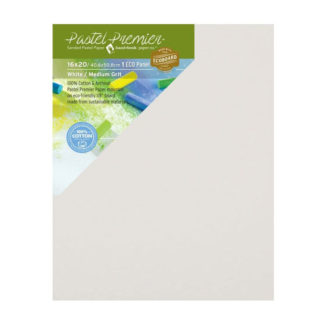 Pastel Premier™ Sanded Eco Panel, Medium Grit, 16x20 inches, White, 1 Panel