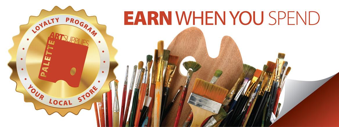 Palette Art Supply Store - Loyalty Program